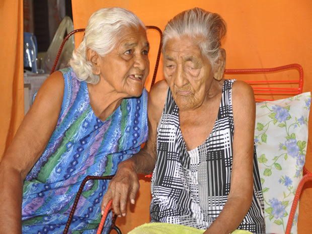 Maria Rita Almeida, 87, is reunited with her mother, 115, after 62 years of estrangement, on Saturday 03 March 2012.