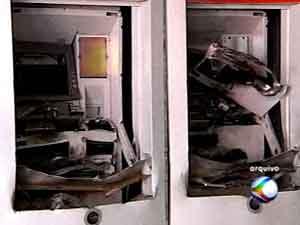 Criminoso têm tido acesso aos explosivos também de forma ilícita, diz polícia (Foto: Reprodução/TV Integração)