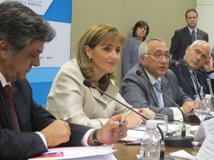 Gastao Vieira participou de evento com os ministros do Chile, México e Argentina (Foto: Darlan Alvarenga/G1)