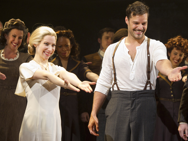Ricky Martin no musical 'Evita', em Nova York (Foto: AP/Charles Sykes)