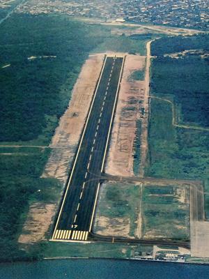 Área onde funciona a Base Aérea de Santos, no Guarujá, e que deverá abrigar aeroporto (Foto: Divulgação/Prefeitura do Guarujá)