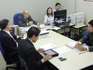 Primeira audiência de instrução e julgamento do caminhoneiro acusado de provocar acidente com Shaolin (Foto: Karoline Zilah/G1)
