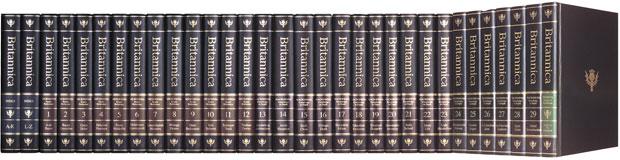 Edição impressa de luxo com 32 volumes da Enciclopédia Britânica custa US$ 1.400 (Foto: AP)
