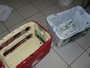 Cocaína estava em um caixa térmica (Foto: Divulgação / Polícia Rodoviária Federal)