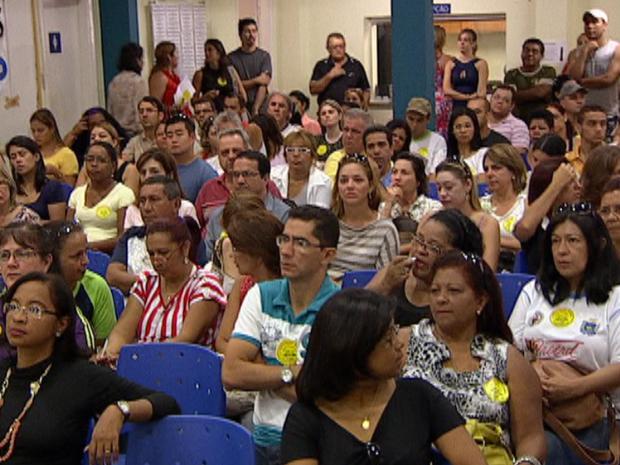 Paralização professores em Campo Grande, MS (Foto: Reprodução/TV Morena)