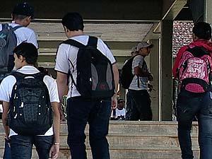 Estudantes ainda vão às aulas em MG (Foto: Reprodução/TV Integração)