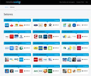'Resolvaweb' é site que quer ajudar usuário a contatar empresas por meio do Twitter (Foto: Reprodução)