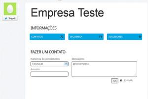 Mensagem é enviada para a empresa, usando o Twitter, com o 'Resolvaweb'. Usuário recebe e-mail ao ter resposta (Foto: Reprodução)