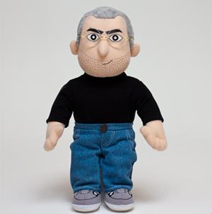 Boneco inspirado em Steve Jobs, vendido pela Throwboy por US$ 60. (Foto: Reprodução)