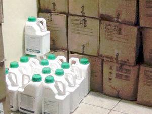 agrotóxico contrabandeado (Foto: Divulgação/PF)