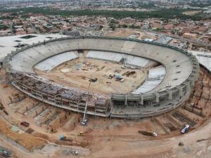 estádio castelão em março de 2012 (Foto: Secopa/divulgação)