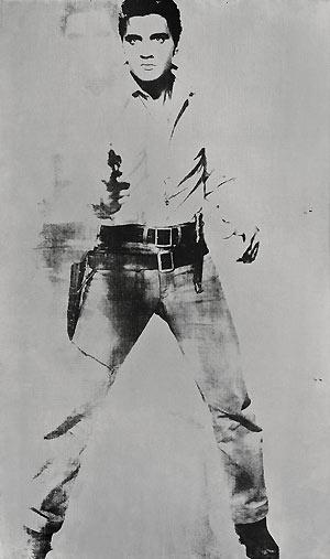 O retrato 'Double Elvis (Ferus type)', assinado por Warhol (Foto: AP)