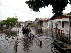 Enchente que atingiu Lábrea, município do interior do Amazonas 2 (Foto: Edmar Barros)