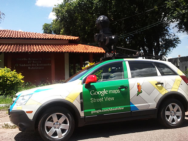 A Google Street View car photographed in Cuiaba, Mato Grosso state, Brazil on Thursday 15 March 2012
