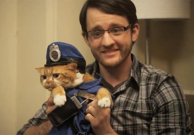 Vídeo da Microsoft que traz 'gato fofo' para divulgar o Internet Explorer (Foto: Reprodução)
