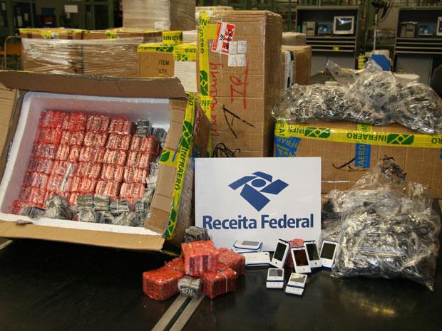 Produtos apreendidos na operação (Foto: Divulgação/Receita Federal)