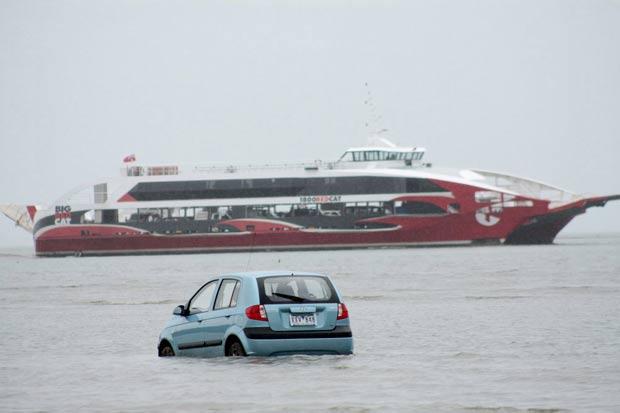 Turistas japoneses pretendiam chegar à ilha North Stradbroke. (Foto: Chris McCormack/Redland Times/Reuters)