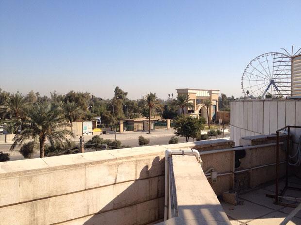 Vista da embaixada brasileira em Bagdá, no bairro de Al Harthia (Foto: Ánuar Nahes/Arquivo Pessoal)