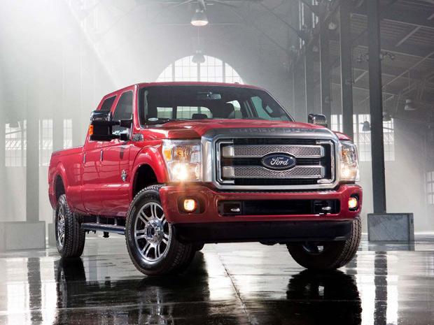 Platinum traz duas opções de motores, o Power Stroke 6.7 diesel e o V8 6.2 a gasolina (Foto: Divulgação)