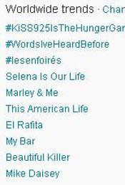 Trending Topics no Mundo, 17h (Foto: Reprodução)