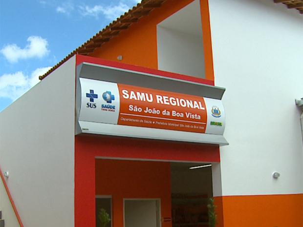 O prédio da Central de Regulação Regional do Samu de São João da Boa Vista (Foto: Reprodução/EPTV)