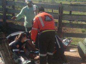Menino é atropelado por trator conduzido pelo pai em Limeira (Foto: Equipe do Samu Limeira)