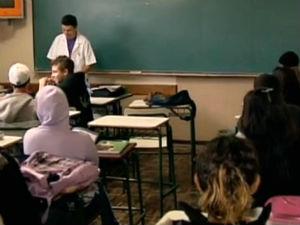 Sala de aula (Foto: Reprodução/RPCTV)