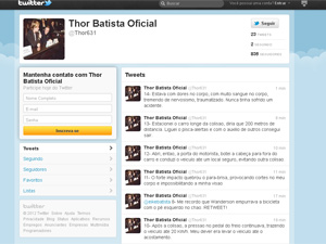 Thor Batista usou Twitter para se defender de acidente com morte de ciclista (Foto: Reprodução/ Twitter)