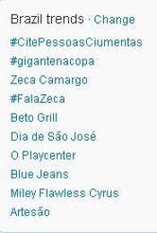 Trending Topics no Brasil às 12h03 (Foto: Reprodução)