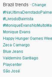 Trending Topics no Brasil às 17h02 (Foto: Reprodução)