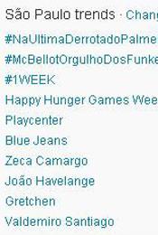 Trending Topics em SP às 18h28 (Foto: Reprodução)
