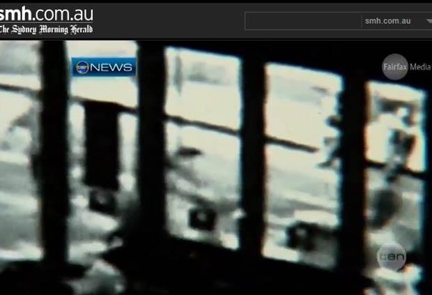 Reprodução de vídeo de câmera de segurança publicado por jornal australiano (Foto: Reprodução)