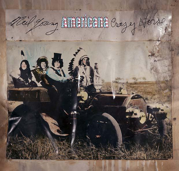 Capa do álbum 'Americana', de Neil Young & Crazy Horse: disco reúne versões para canções clássicas do cancioneiro folk norte-americano (Foto: Divulgação)