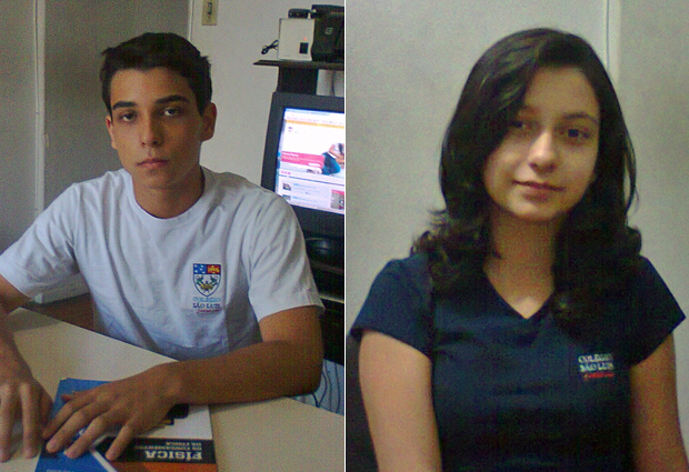 Iago e Gabriela Fernandes de Sousa estudam no Colégio São Luís com bolsa de estudos integral (Foto: Arquivo pessoal)