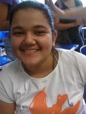 Erika Nobetani, de 16 anos, é bolsista no Colégio Santa Maria (Foto: Arquivo pessoal)
