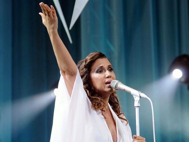 A cantora Maria Rita homenageia a mãe, Elis Regina, em show no Rio: apresentação contou com 28 músicas gravadas pela Pimentinha (Foto: Alexandre Durão/G1)
