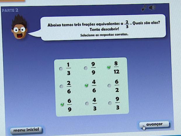 Programa desenvolvido por pesquisadores da USP ensina matemática de forma bem didática (Foto: Reprodução/EPTV)