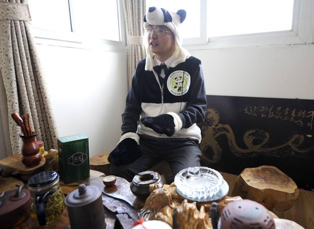 An Yanshi criou o chá mais caro do mundo.  (Foto: Liu Jin/AFP)