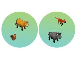 Animais que o jogador poderá ter no sítio incluem vacas e galinhas (Foto: Divulgação)