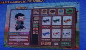 Jogadores terão diversas opções de olhos, nariz, cabelos e roupas para criar seu avatar no estilo dos personagens do Maurício de Sousa (Foto: Gustavo Petró/G1)