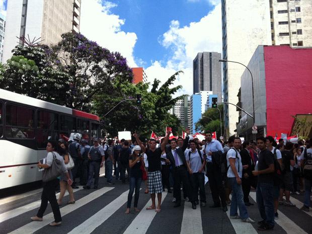 protesto mackenzie (Foto: Juliana Cardilli/G1)