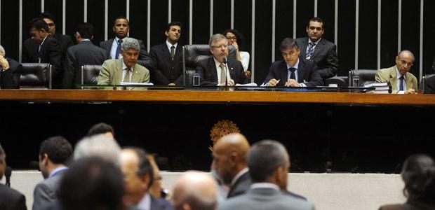 O presidente da Câmara, Marco Maia, durante sessão desta quarta (21) (Foto: Agência Câmara)