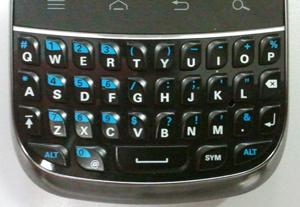 Detalhe do teclado do tipo QWERTY, do smartphone Motorola Fire (Foto: Glauco Araújo/G1)