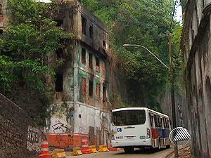 Ladeira da Montanha tem trânsito liberado (Foto: Reprodução/TV Bahia)