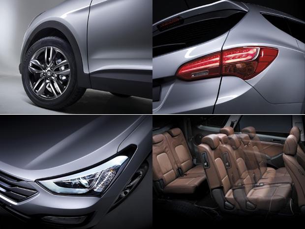Hyundai Santa Fe entra na terceira geração (Foto: Divulgação)