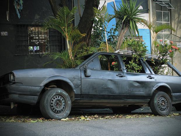 Veículo estava exposto na Rua João Moura desde o dia 11 de fevereiro, segundo organizadores (Foto: Divulgação/ BijaRi)