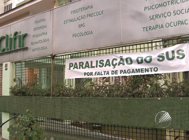 Clínicas paralisam atendimentos pelo SUS em Salvador (Foto: Reprodução/ TV Bahia)
