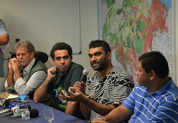Kumi Naidoo durante lançamento da campanha (Foto: Marcos Dantas/G1)