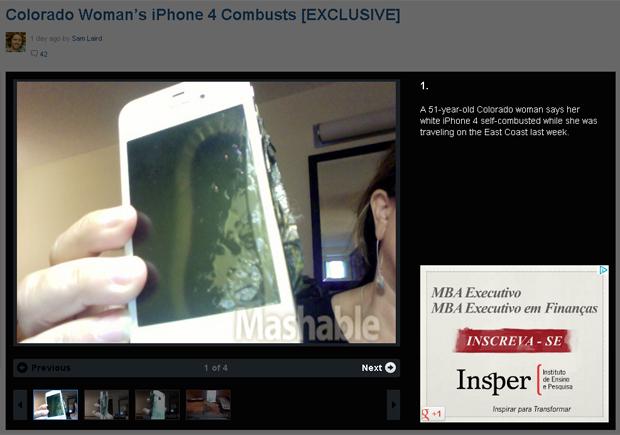 Mulher de 51 anos relatou problema em iPhone nos Estados Unidos (Foto: Reprodução)