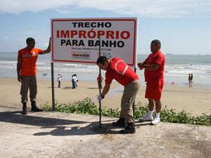 Praias estão impróprias para o banho (Foto: Arquivo O Estado)